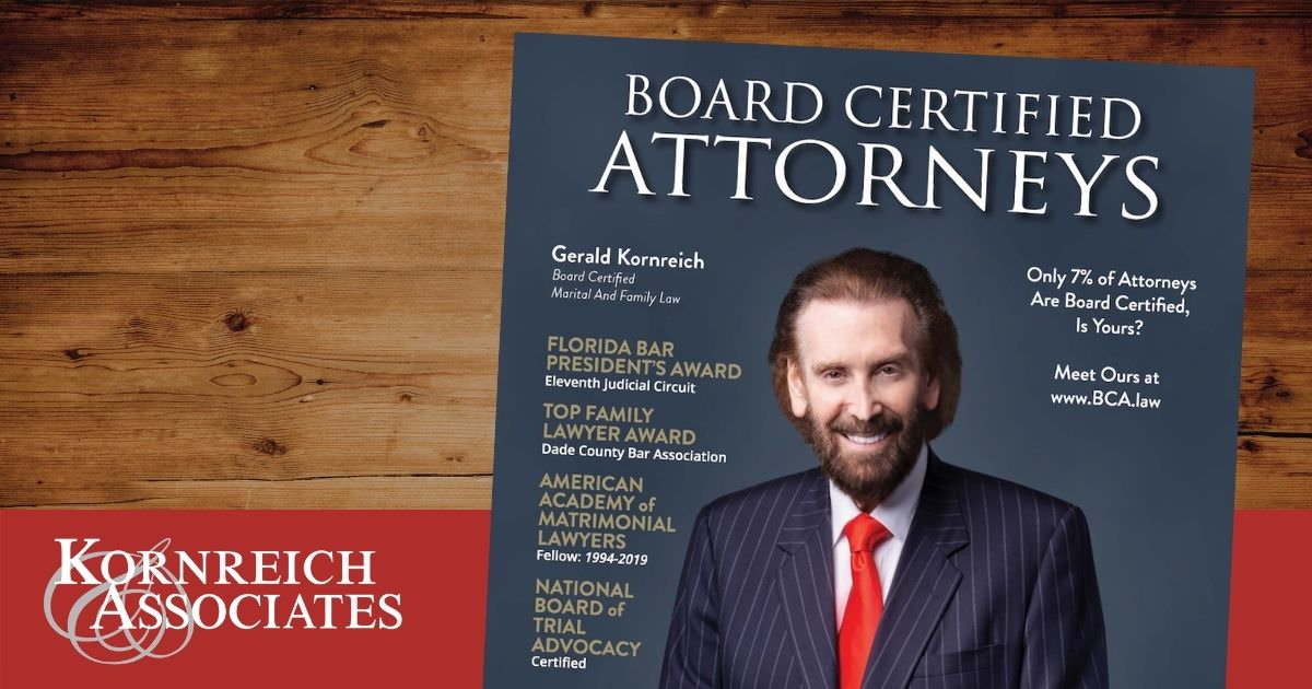 blog graphic featuring Gerald Kornreich - Partner, Kornreich & Associates marital and family law firm