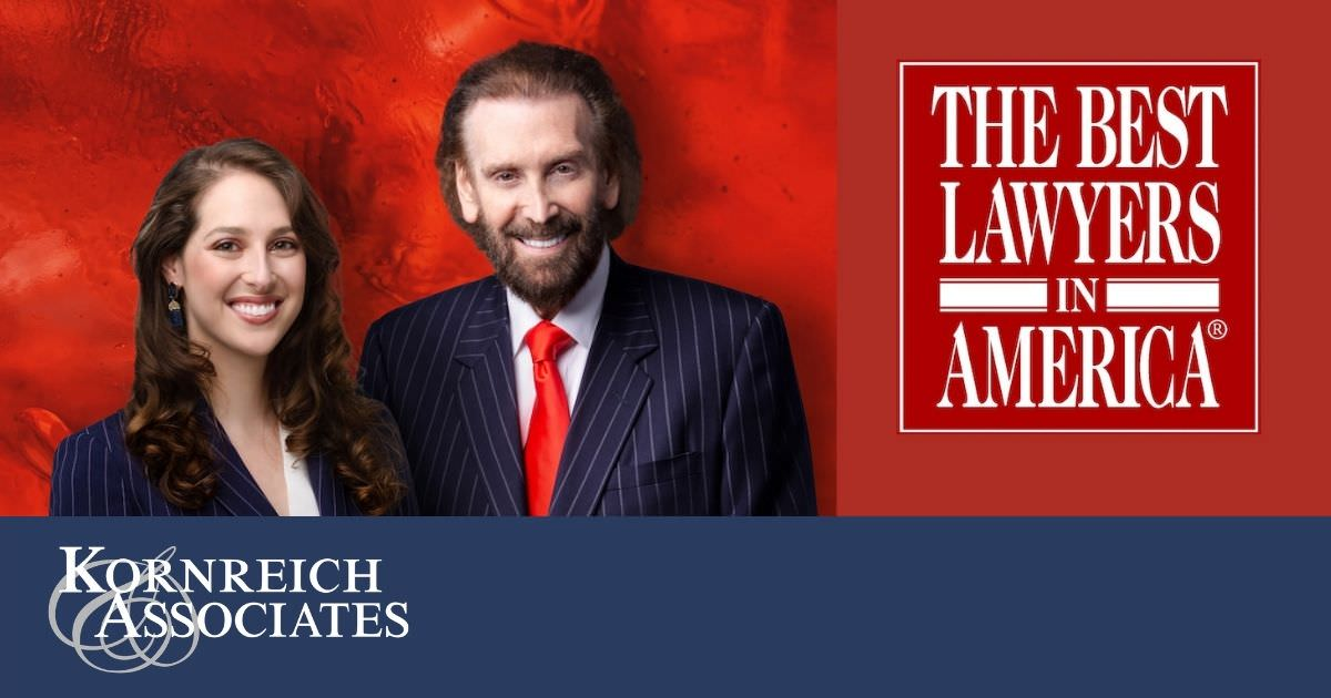Kornreich & Associates blog graphic about Best Lawyers in America ranking